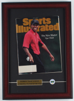 "Tiger Woods ""Sports Illustrated"" 13x18 Custom Framed Magazine Display with Masters Pin at PristineAuction.com"