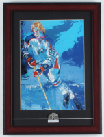 "LeRoy Neiman ""Wayne Gretzky"" 14x18 Custom Framed Print Display with Hockey Hall Of Fame Pin at PristineAuction.com"