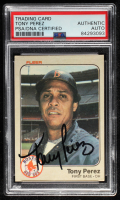 Tony Perez Signed 1983 Fleer #191 (PSA Encapsulated) at PristineAuction.com