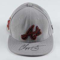 Chipper Jones Signed Braves Fitted Hat (JSA COA) at PristineAuction.com