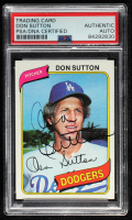 Don Sutton Signed 1980 Topps #440 (PSA Encapsulated) at PristineAuction.com