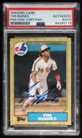 Tim Raines Signed 1987 Topps #30 (PSA Encapsulated) at PristineAuction.com