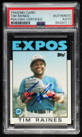 Tim Raines Signed 1986 Topps #280 (PSA Encapsulated) at PristineAuction.com