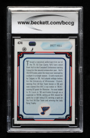 Brett Hull Signed 1990-91 Upper Deck #474 All-Star (BCCG Encapsulated) at PristineAuction.com