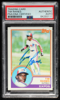 Tim Raines Signed 1983 Topps #595 (PSA Encapsulated) at PristineAuction.com