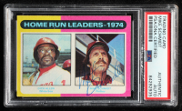 Mike Schmidt Signed 1975 Topps #307 Home Run Leaders Dick Allen / Mike Schmidt (PSA Encapsulated) at PristineAuction.com