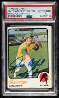 Catfish Hunter Signed 1973 Topps #235 (PSA Encapsulated) at PristineAuction.com