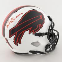 "Andre Reed Signed Bills Full-Size Lunar Eclipse Alternate Speed Helmet Inscribed ""Bills Mafia"" (JSA COA) at PristineAuction.com"