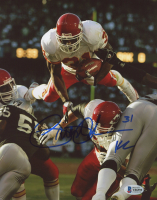 """Priest Holmes Signed Chiefs 8x10 Photo Inscribed """"KC"""" (Beckett COA) at PristineAuction.com"""