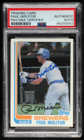 Paul Molitor Signed 1982 Topps #195 (PSA Encapsulated) at PristineAuction.com