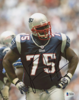 Vince Wilfork Signed Patriots 8x10 Photo (Beckett COA) at PristineAuction.com