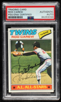 Rod Carew Signed 1977 Topps #120 (PSA Encapsulated) at PristineAuction.com