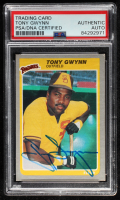 Tony Gwynn Signed 1985 Fleer #34 (PSA Encapsulated) at PristineAuction.com