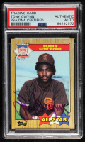 Tony Gwynn Signed 1987 Topps #599 AS (PSA Encapsulated) at PristineAuction.com