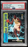 Shawn Kemp Signed 1995-96 Collector's Choice #409 CL (PSA Encapsulated) at PristineAuction.com