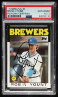 Robin Yount Signed 1986 Topps #780 (PSA Encapsulated) at PristineAuction.com