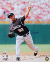 Franklin Morales Signed Rockies 16x20 Photo (Beckett COA) at PristineAuction.com