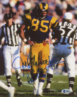 """Jack Youngblood Signed Rams 8x10 Photo Inscribed """"HOF 01"""" (Beckett COA) at PristineAuction.com"""