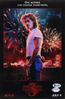 "Dacre Montgomery Signed ""Stranger Things 3"" 8x12 Print (Beckett COA & PSA Hologram) at PristineAuction.com"
