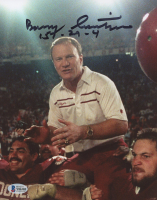 Barry Switzer Signed Oklahoma Sooners 8x10 Photo (Beckett COA) at PristineAuction.com
