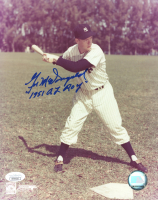 "Gil McDougald Signed Yankees 8x10 Photo Inscribed ""1951 AL ROY"" (JSA COA) at PristineAuction.com"
