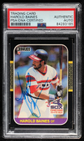 Harold Baines Signed 1987 Donruss #429 (PSA Encapsulated) at PristineAuction.com