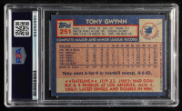 Tony Gwynn Signed 1984 Topps #251 (PSA Encapsulated) at PristineAuction.com