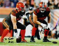 J. C. Tretter & Joel Bitonio Signed Browns 8x10 Photo (Playball Ink Hologram) at PristineAuction.com