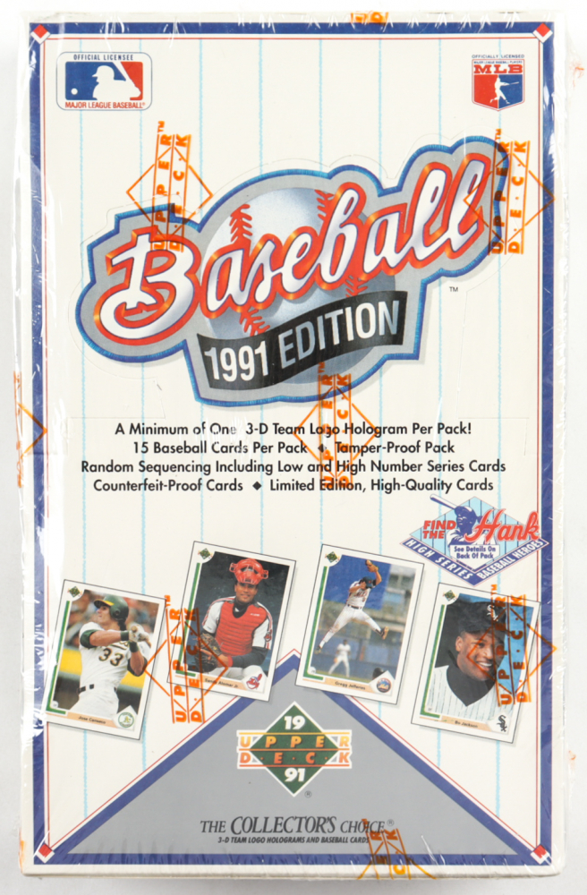 1991 Upper Deck Baseball Unopened Wax Box of (36) Packs at PristineAuction.com