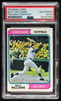 Billy Williams Signed 1974 Topps #110 (PSA Encapsulated) at PristineAuction.com