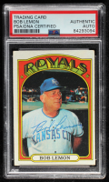 Bob Lemon Signed 1972 Topps #449 MG (PSA Encapsulated) at PristineAuction.com