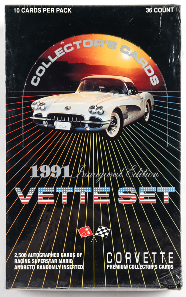 1991 Chevrolet Corvette Vette Set Trading Cards Box of (36) Packs at PristineAuction.com