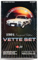 1991 Chevrolet Corvette Vette Set Trading Cards Box of (36) Packs at PristineAuction.com