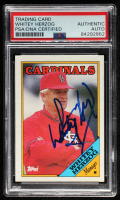 Whitey Herzog Signed 1988 Topps #744 MG (PSA Encapsulated) at PristineAuction.com