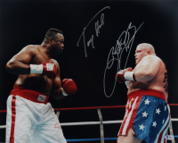 "Eric ""Butterbean"" Esch & Larry Holmes Signed 16x20 Photo (Beckett COA) at PristineAuction.com"