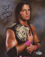 "Brett ""Hitman"" Hart Signed WWE 8x10 Photo (Beckett COA) at PristineAuction.com"