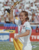 "Carla Overbeck Signed Team USA 8x10 Photo Inscribed ""4 USA"" (Beckett COA) at PristineAuction.com"
