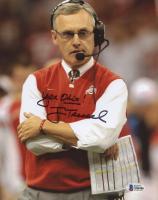 "Jim Tressel Signed Ohio State Buckeyes 8x10 Photo Inscribed ""Yea Ohio!"" (Beckett COA) at PristineAuction.com"