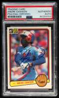 Andre Dawson Signed 1983 Donruss #518 (PSA Encapsulated) at PristineAuction.com