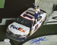 Denny Hamlin Signed NASCAR 8x10 Photo (PSA COA) at PristineAuction.com