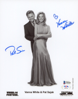"Pat Sajak & Vanna White Signed ""Wheel of Fortune"" 8x10 Photo (Beckett COA & PSA Hologram) at PristineAuction.com"