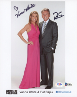 "Pat Sajak & Vanna White Signed ""Wheel of Fortune"" 8x10 Photo (Beckett COA & PSA Hologram) at PristineAuction.com"