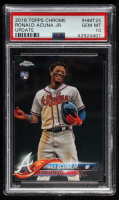Ronald Acuna Jr. 2018 Topps Chrome Update #HMT25 RC (PSA 10) at PristineAuction.com