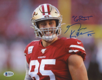 "George Kittle Signed 49ers 8x10 Photo Inscribed ""Grit"" (Beckett COA) at PristineAuction.com"