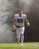 """George Kittle Signed 49ers 8x10 Photo Inscribed """"Grit"""" (Beckett COA) at PristineAuction.com"""