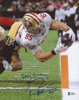 "George Kittle Signed 49ers 8x10 Photo Inscribed ""Stay Gritty"" (Beckett COA) at PristineAuction.com"