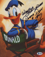 """Tony Anselmo Signed """"Donald Duck"""" 8x10 Photo Inscribed """" With Our Best Wishes"""" & """"Donald Duck"""" (Beckett COA) (See Description) at PristineAuction.com"""
