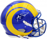 Aaron Donald Signed Rams Full-Size Authentic On-Field Speed Helmet (Radtke COA) at PristineAuction.com