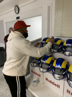 Aaron Donald Signed Rams Full-Size Authentic On-Field SpeedFlex Helmet (Radtke COA) at PristineAuction.com
