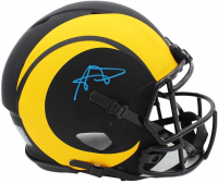 Aaron Donald Signed Rams Full-Size Authentic On-Field Eclipse Alternate Speed Helmet (Radtke COA) at PristineAuction.com